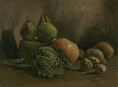 Painting - Still Life With Vegetables And Fruit Nuenen, Autumn 1884 Vincent Van Gogh 1853  1890 by Artistic Panda