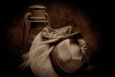 Sepia Photograph - Still Life With Wheat II by Tom Mc Nemar
