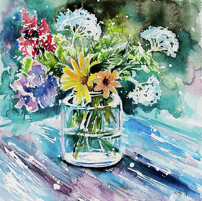 Painting - Still Life With Wild Flowers by Kovacs Anna Brigitta