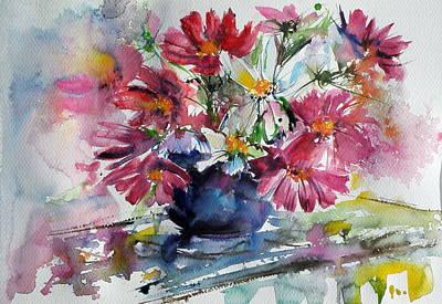 Windflower Painting - Still Life With Windflowers by Kovacs Anna Brigitta