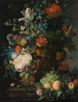 Painting -  Still Life, Flowers by Jan van Huysum