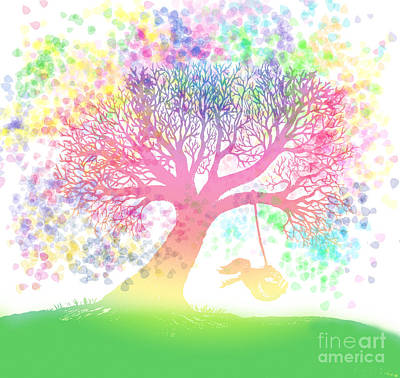 Still More Rainbow Tree Dreams 2 Art Print