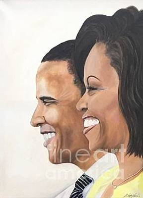 Painting - Still My President And First Lady by Jeleata Nicole