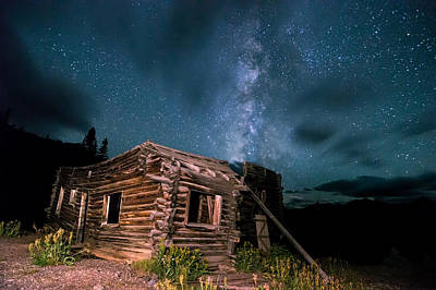 Photograph - Still Night At Old Cabin by Michael J Bauer