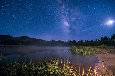 Photograph - Still Night At Upper Molas Lake by Michael J Bauer