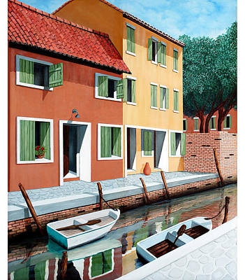 Window Painting - Still, On The Canal - Prints From Original Oil Painting by Mary Grden's Baywood Gallery