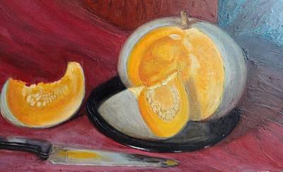 Still Ripe Melon. Print by Olga Vlasova