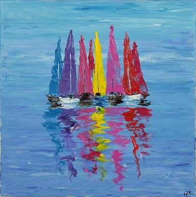 Still Sailboats 1 Original by Garett Fraser