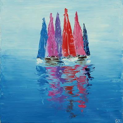 Still Sailboats 2 Original by Garett Fraser