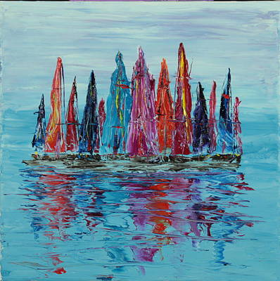 Still Sailboats 3 Original by Garett Fraser