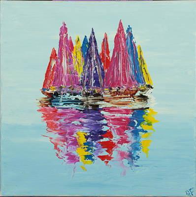 Still Sailboats 4 Original by Garett Fraser