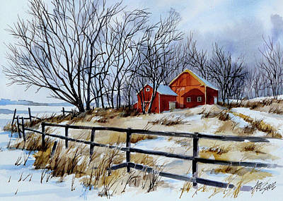 Painting - Still Some Snow by Art Scholz