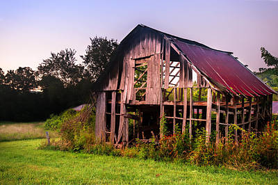 Photograph - Still Standing - Northwest Arkansas Vintage Barn by Gregory Ballos