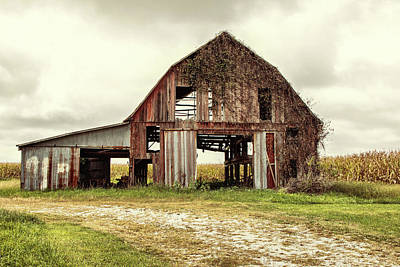 Photograph - Still Standing Ohio Barn  by Betty Pauwels