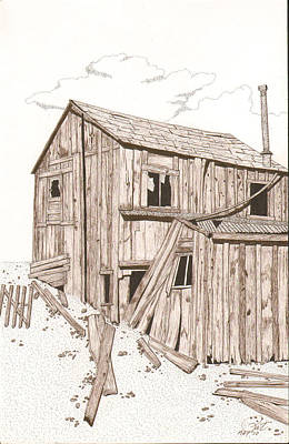 Sepia Ink Drawing - Still Standing by Pat Price