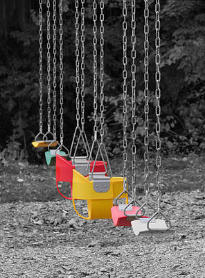 Photograph - Still Swings by Richard Reeve