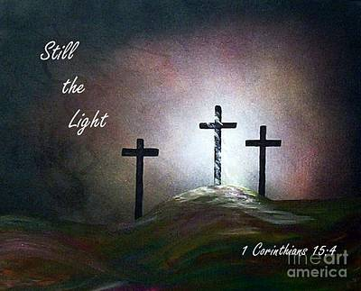 Still The Light Scripture Painting Art Print by Eloise Schneider