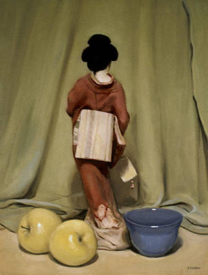 Painting - Waiting For Her Curtain Call by Robert Holden
