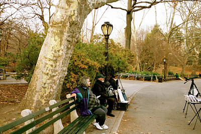 Photograph - Still Waiting In Central Park by Maggie Vlazny