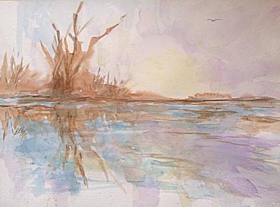 Painting - Still Waters by Ellen Levinson