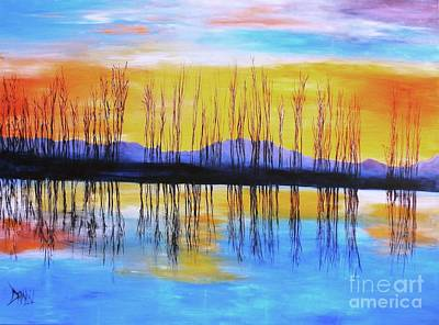 Art Print featuring the painting Still Waters From The Water Series  by Donna Dixon