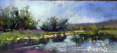 Painting - Still Waters On The Llano River by Rae Andrews