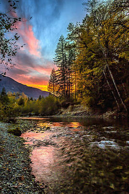 Stillaguamish Sunset Art Print by Charlie Duncan