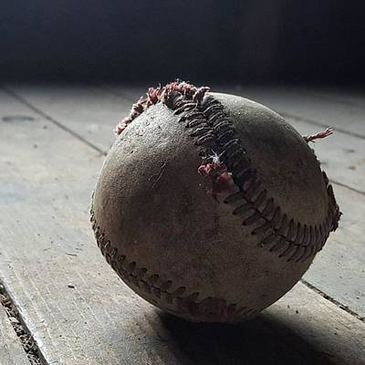 Sports Photograph - Baseball Still Life by Andrew Pacheco