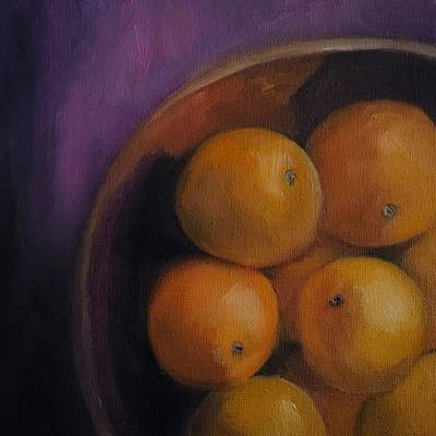 Painting - Stilllife Oranges by Michele Carter