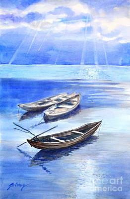 Painting - Stillness by Betty M M Wong