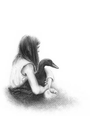 Stillness Drawing - Stillness by Elisa Sbingu