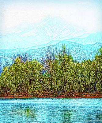 Digital Art - Stillness Of A Mountain Morning by Joel Bruce Wallach