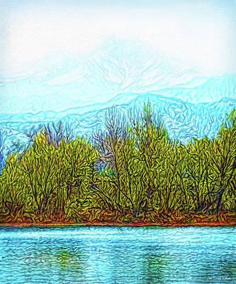 Digital Art - Stillness Of A Mountain Morning by Joel Bruce Wallach