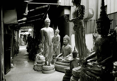 Photograph - Stillness Of The Bangkok Buddhas by Shaun Higson
