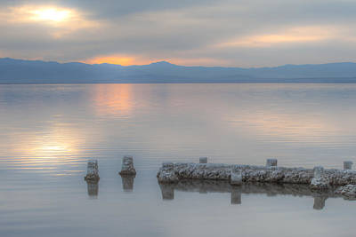 Photograph - Stillness On Salton Sea by Peter Dyke