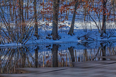 Connecticut Winter Photograph - Stillness Reflects by Karol Livote