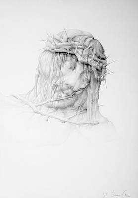 Stillness Drawing - Stillness.christ by Mirko Sevic