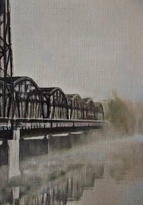 Landscape-like Art Painting - Stillwater by Cara Frafjord