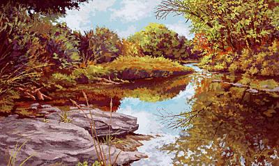 Painting - Stillwater by Hans Neuhart