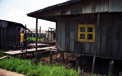 Photograph - Stilt House Niger Delta by Muyiwa OSIFUYE