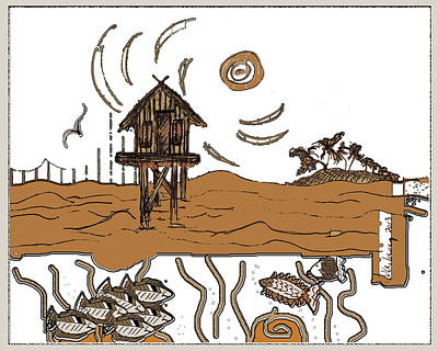 Stilt House Art Print