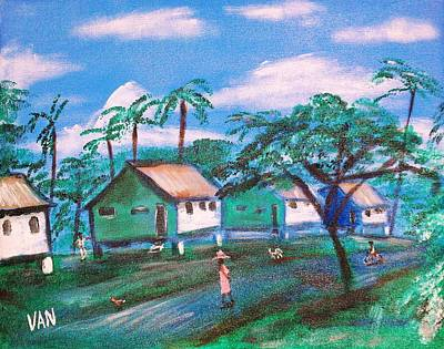 Stilt Houses Art Print by Van Winslow