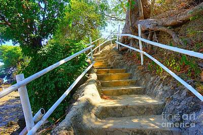 Photograph - Stilts Resort Stone Staircase by Christopher Shellhammer