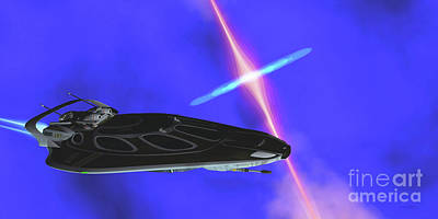 Royalty-Free and Rights-Managed Images - Stinger Star-ship by Corey Ford