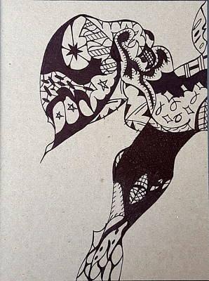 Drawing - Stinger by Steven Stutz