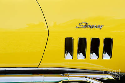 Exhaust Pipe Photograph - Stingray Yellow  by Tim Gainey