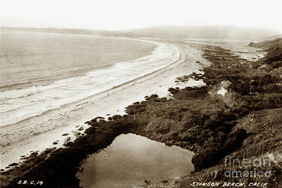 Photograph - Stinson Beach, Bolinas Lagoon, Marin County, California 1915 by California Views Archives Mr Pat Hathaway Archives