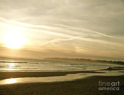 Stinson Beach California Photograph - Stinson Beachcombers by Alberta Brown Buller