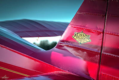 Photograph - Stinson Reliant by Philip Rispin