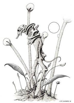 Stipplewalker Art Print by J P Lambert